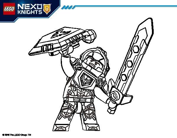 Clay Nexo Knights coloring page