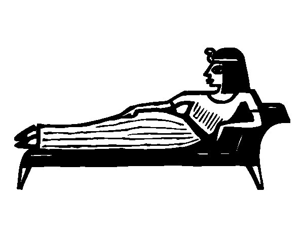 Cleopatra lying down coloring page  Coloringcrewcom