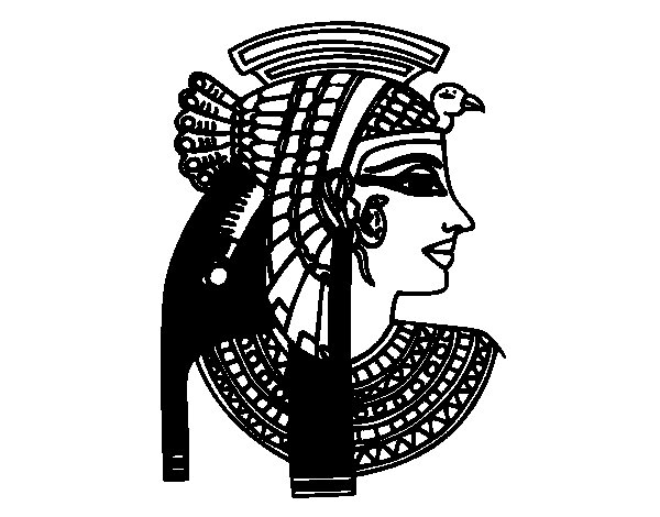 Cleopatra profile coloring page  Coloringcrewcom