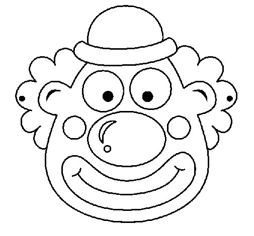 clown face coloring pages - photo#11