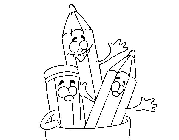 Color Crew Coloring Pages Colored Pencils Coloring Page