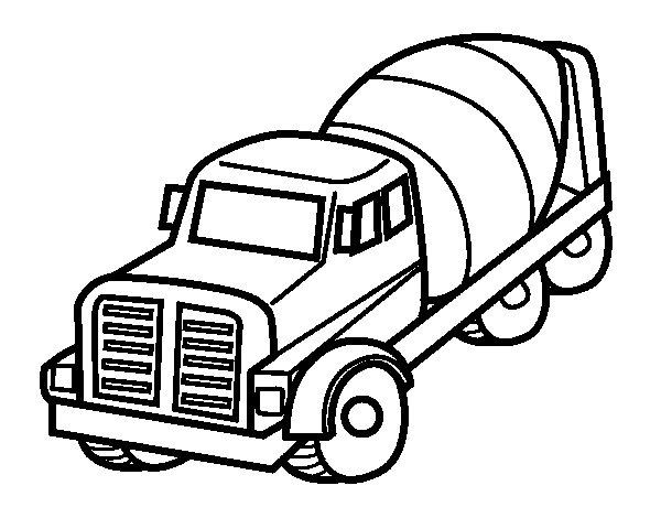 Concrete Mixer Truck coloring page Coloringcrew