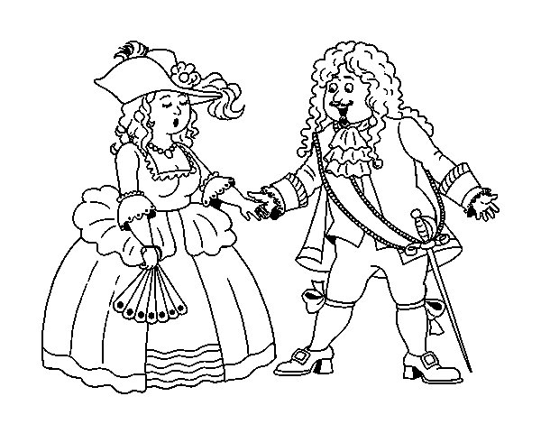 Count and countess coloring page
