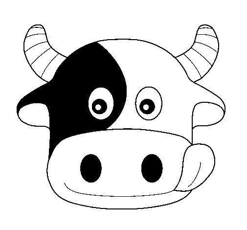 Cow 6 coloring page