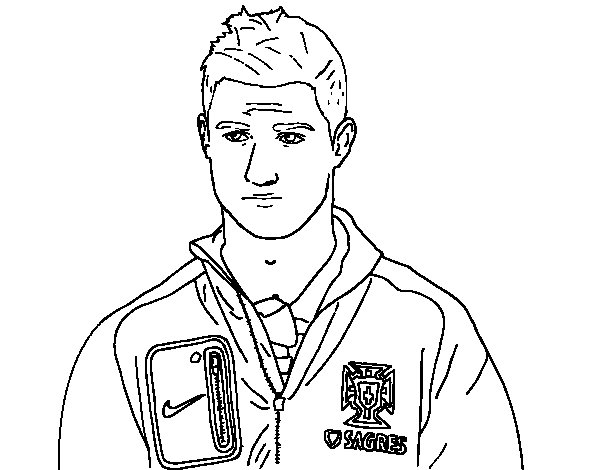 soccer coloring pages ronaldo hair - photo#1