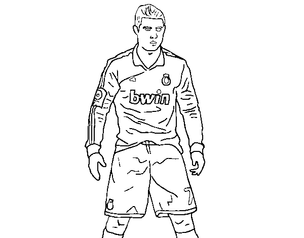 soccer coloring pages ronaldo hair - photo#8
