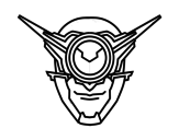 Cyclop mask coloring page