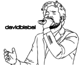 David Bisbal singing coloring page