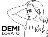 Demi Lovato Confident coloring page
