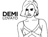 Demi Lovato coloring page