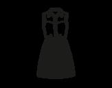 Denim dress coloring page
