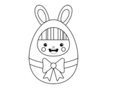 Easter costume coloring page
