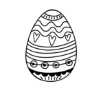 Dibujo de Easter egg to decorate