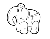 Elephant rag coloring page