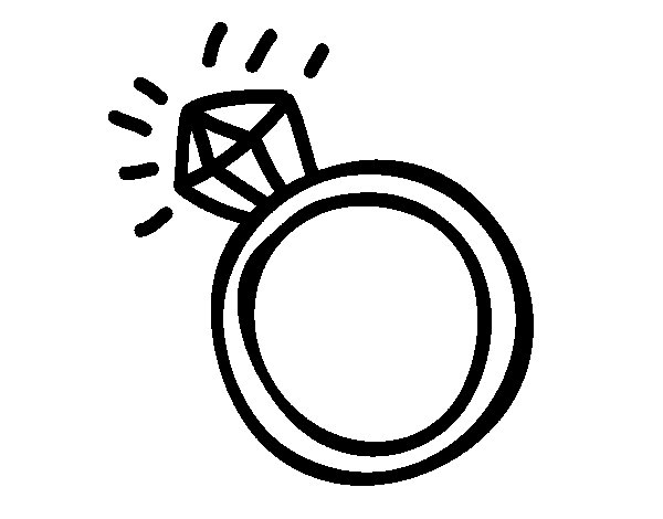 Engagement ring coloring page