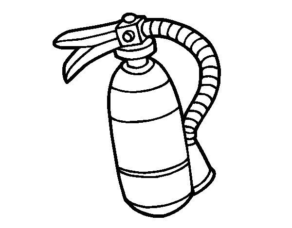Extinguisher Coloring Page Coloringcrew Com Extinguisher Coloring Page
