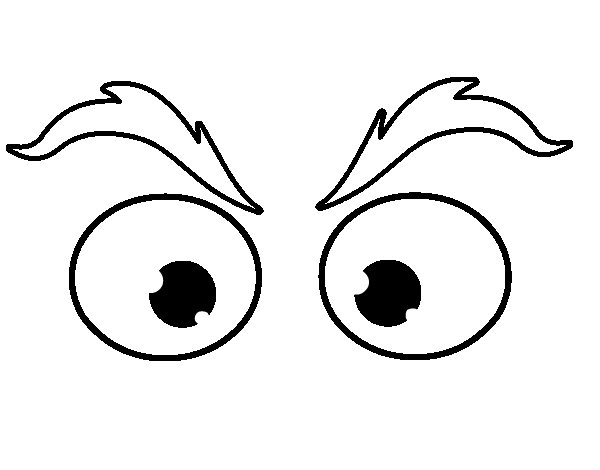 Eyebrows coloring page - Coloringcrew.com