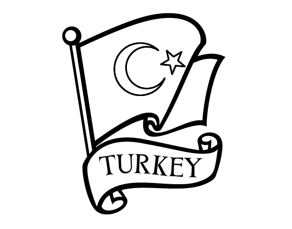 Flag of Turkey coloring page - Coloringcrew.com