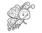 Flirty butterfly coloring page