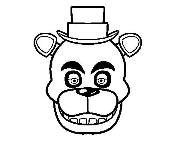 Freddy's Face from Five Nights at Freddy's coloring page