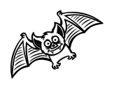 Friendly bat coloring page