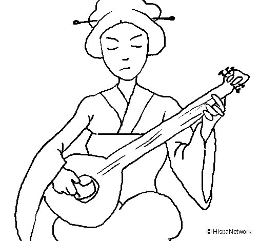 geisha coloring pages  Coloring Pages