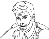 Gerard Piqué in a press conference coloring page