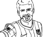 Gerard Piqué coloring page