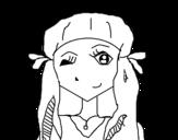 Dibujo de Girl winking