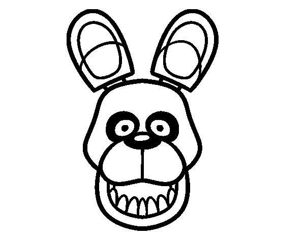 Golden Freddy from Five Nights at Freddy's coloring page