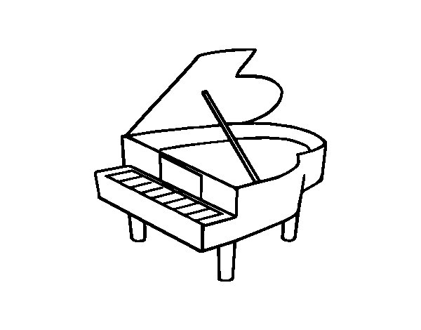 grand piano opened coloring page coloringcrewcom