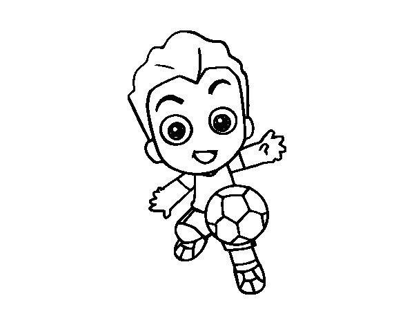 Guy playing football coloring page