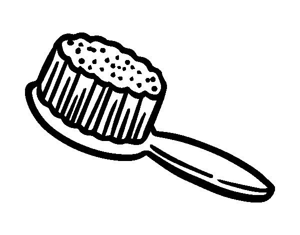 Hair Brush frame picture coloring page  Free Printable