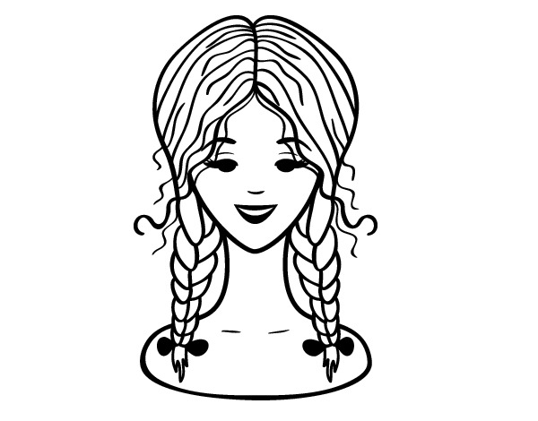 hairstyles coloring pages - photo #22