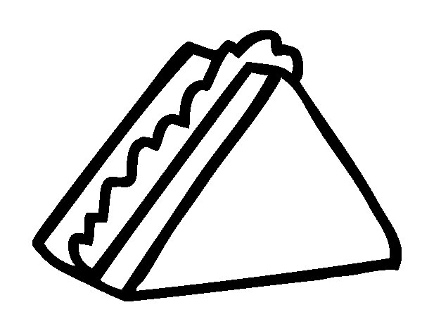 coloring pages images sandwiches - photo#20
