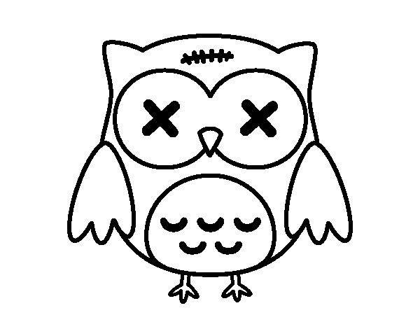 Halloween owl coloring page - Coloringcrew.com: parties.coloringcrew.com/halloween/halloween-owl.html
