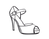 Heel slingback coloring page