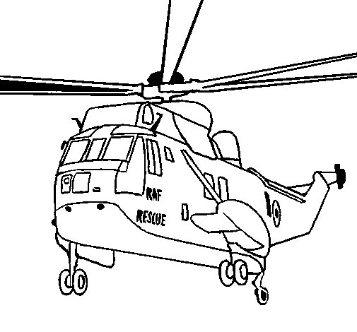 Colouring Picture Helicopter To The Rescue Coloring Page Coloringcrew
