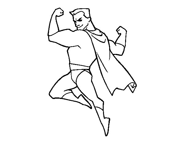 free strong man coloring pages - photo#10