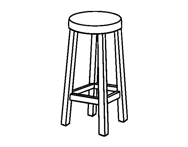 High Stool Coloring Page Coloringcrew Com
