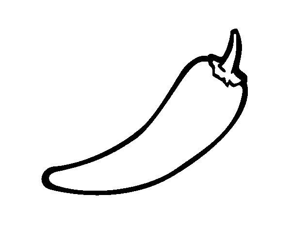 Hot Pepper Coloring Page Images