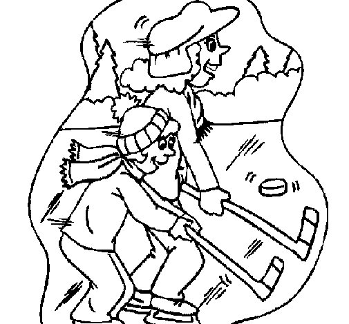 Ice hockey coloring page for Ice hockey coloring pages