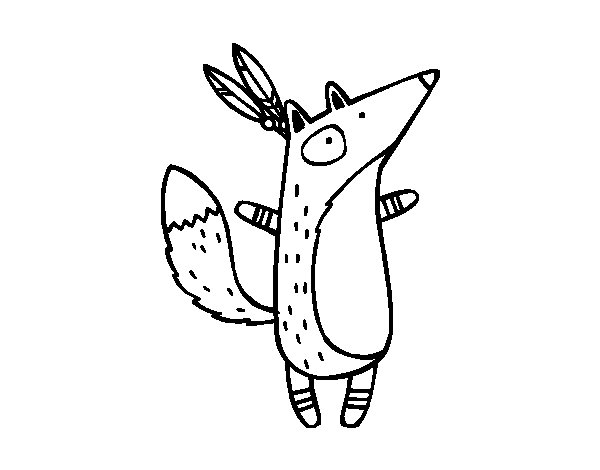 Fox Head Coloring Page