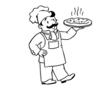 Italian chef coloring page