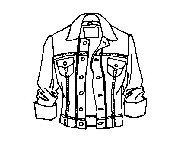 Jacket coloring page - Coloringcrew.com