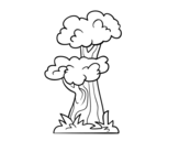 Japanese tree coloring page