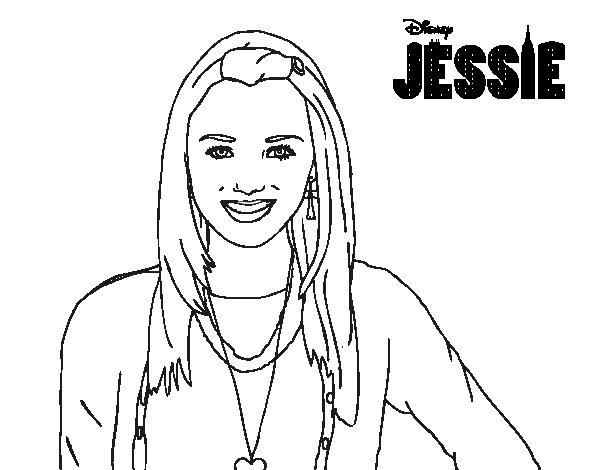 Coloring Pages Disney Jessie On Images Free Download At Channel: Emma Jessie Disney Channel Coloring Pages Sketch Coloring Page