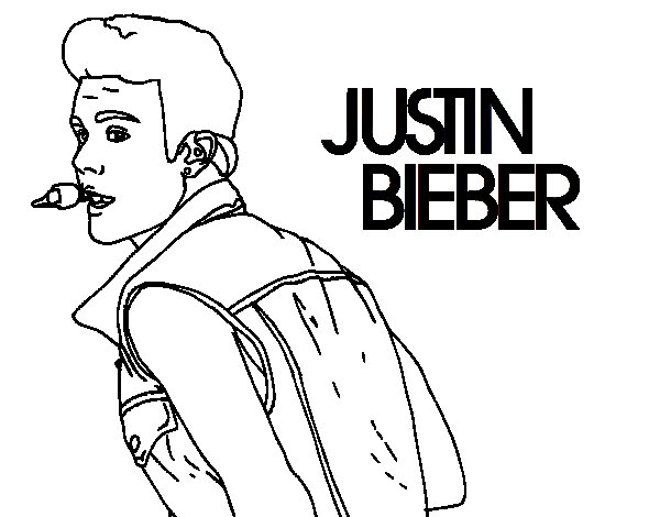 Justin bieber singing coloring page for Justin bieber coloring pages
