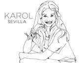 Karol Sevilla from Soy Luna coloring page