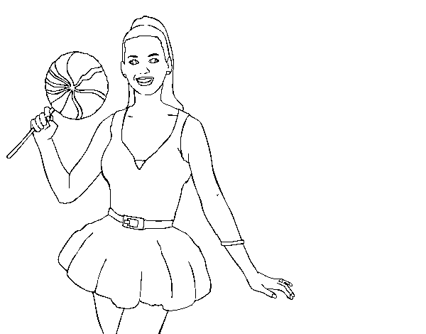 katy perry with lollipop coloring page coloringcrewcom